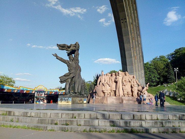 Signs of Ukraine's Soviet past linger in modern-day Kiev.