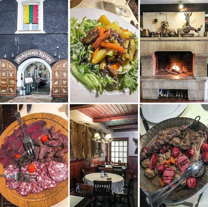 Medziotoju Uzeiga Restaurant in Kaunas Lithuania is known as The Hunter's House because it features wild game on the menu.