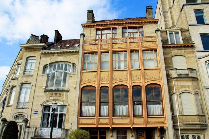 Hôtel van Eetvelde is one of Victor Horta's masterpieces in Brussels, Belgium