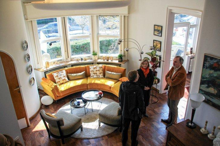 Take a peak behind closed doors, like the round living room of the Art Deco Ajoux House, at the BANAD Festival.