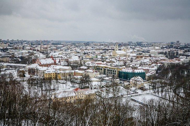 View of Vilnius Lithuania Skyline