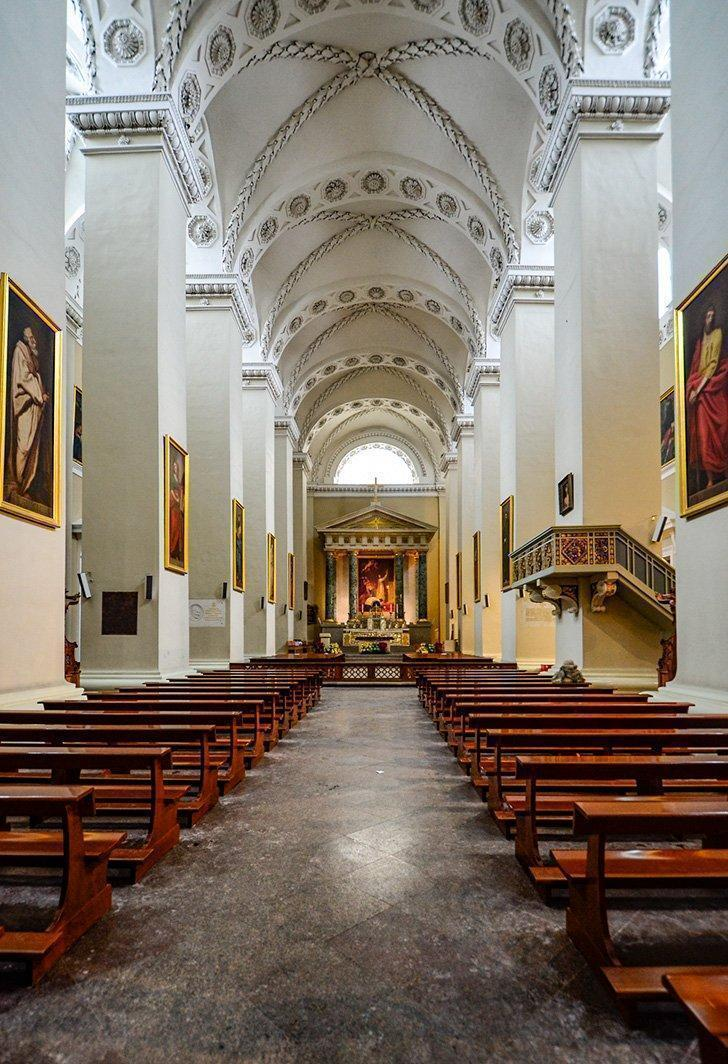 The interior of Vilnius Cathedral