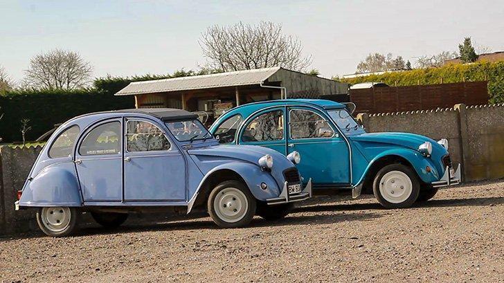 We explored Hageland Belgium in these two blue 2CVs
