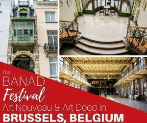 Want to visit Art Nouveau and Art Deco buildings in Brussels, Belgium not normally open to the public? The BANAD Festival takes you behind closed tours for guided tours of Brussels most spectacular buildings.
