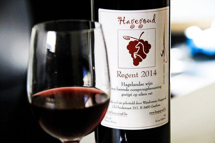One of the delicious Belgian wines from Hagegoud Vineyard.