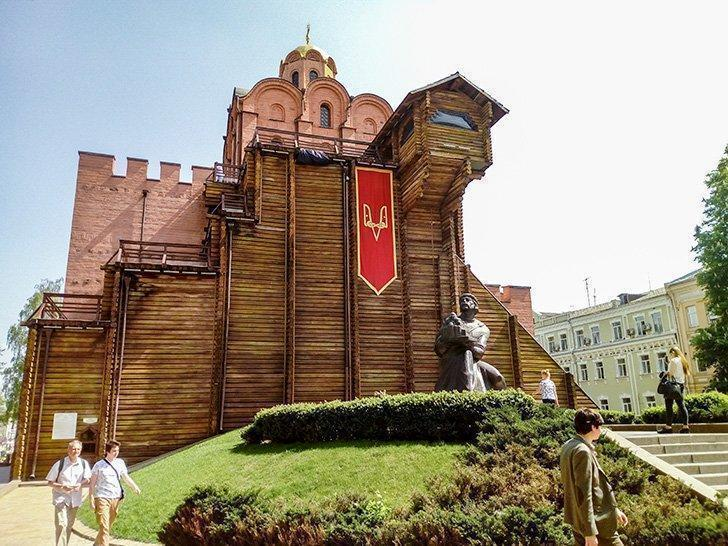 The Golden Gate museum is one of Kiev's top tourist attractions.
