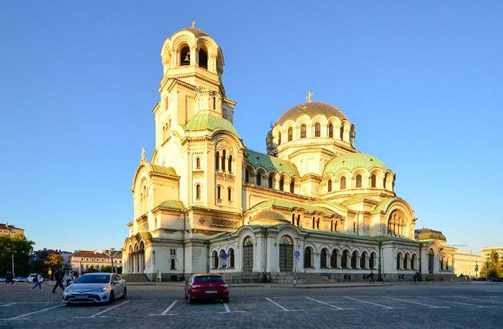 The Bulgarian Orthodox Alexander Nevsky Cathedral is a top tourist attraction in Sofia, Bulgaria