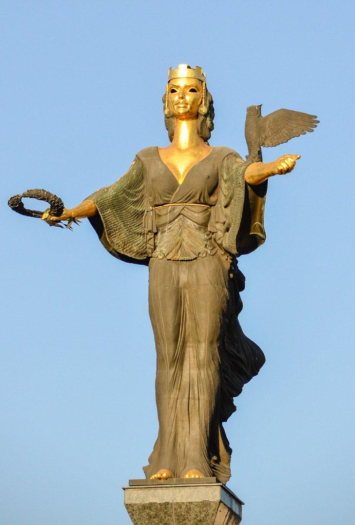 Saint Sofia watches over her beautiful city in Bulgaria.