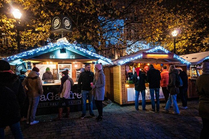 The Brussels Christmas Market is cozy and festive throughout December.