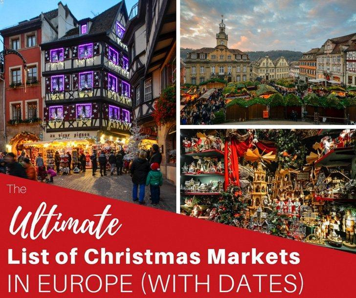 the best christmas markets in europe dates 2018