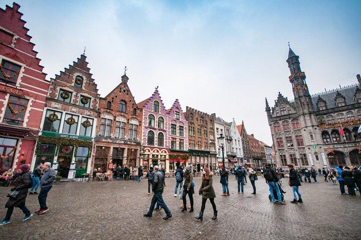 Bruges, Belgium in her holiday finery.