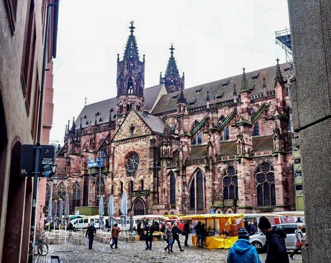 Freiburg im Breisgau is known for its beautiful Medieval Munster.