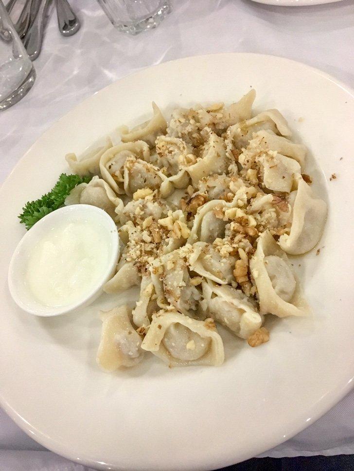 Delicious meals at Musafir Crimean-Tatar Restaurant in Kiev, Ukraine