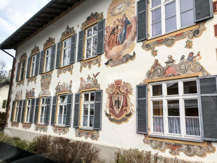 The painted architecture of Oberammergau makes it one of the prettiest towns in Germany.