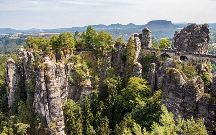 Saxon Switzerland National Park is one of the most unique and beautiful places in Germany.