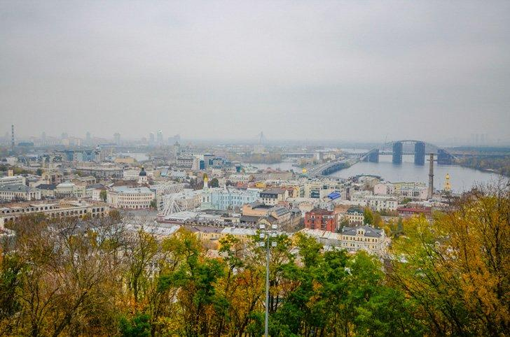 St. Andrew's church also offers stunning views of Kiev.