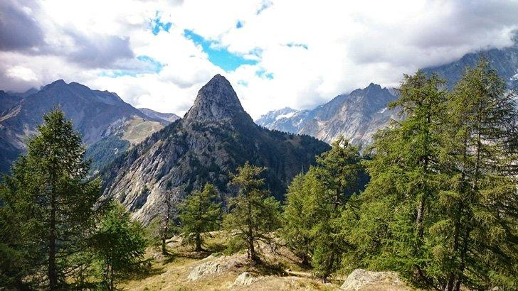 Views of Mont Chetif while on the TMB Trails in the Val Aosta, Italy