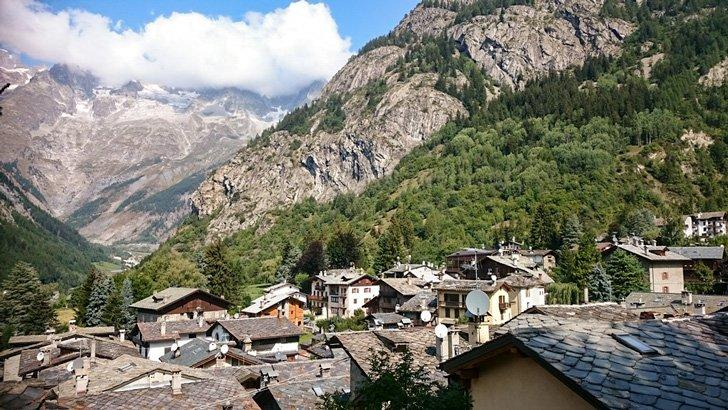Traditional Alpine Chalets in the Aosta Valley, Italy, with their distinctive Piodi heavy slab roof tiles - perfect for those harsh winters!