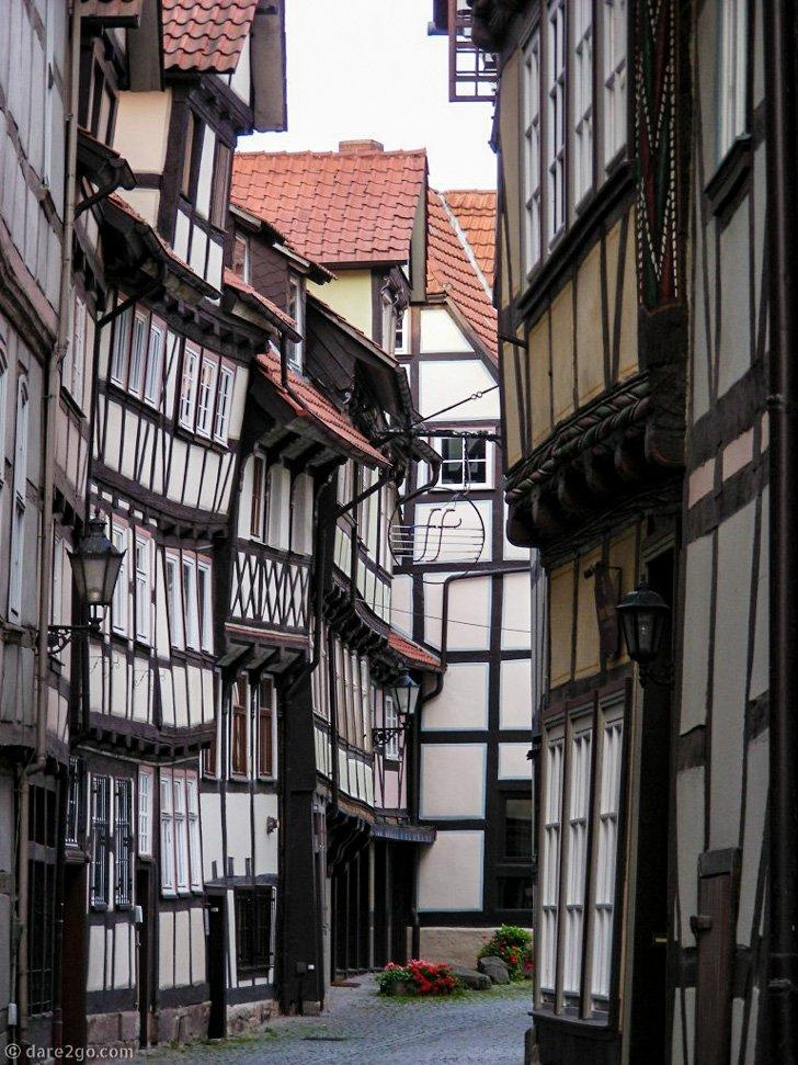 The crooked timber-framed houses of Hannoversch-Muenden give it a quirky charm.