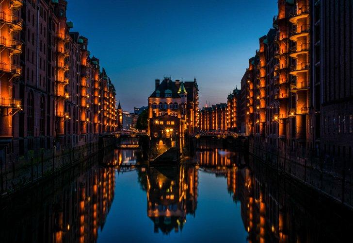 Hamburg is a beautiful city in Germany for photography.