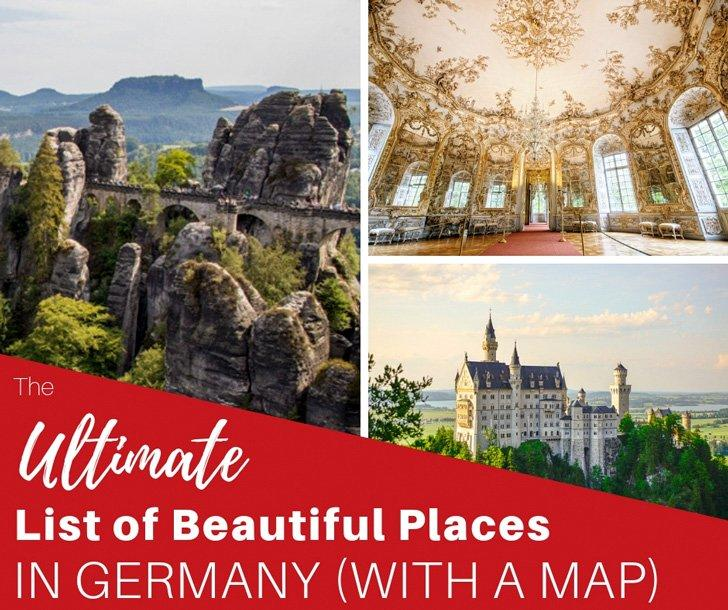Tourist Map Of Germany.The Most Beautiful Places In Germany Map Included