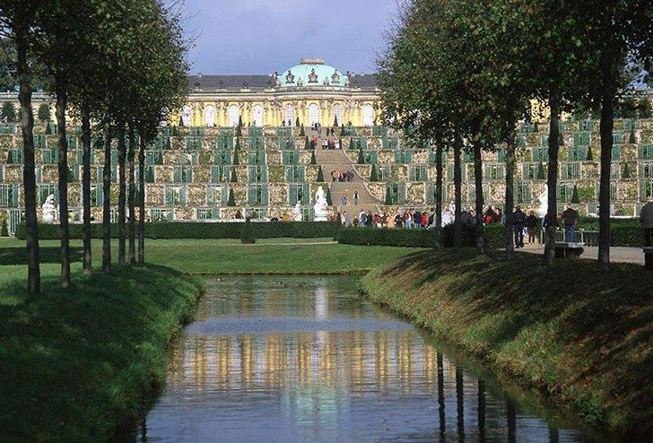 Sanssouci Palace in Potsdam is one of Germany's most beautiful places near Berlin.