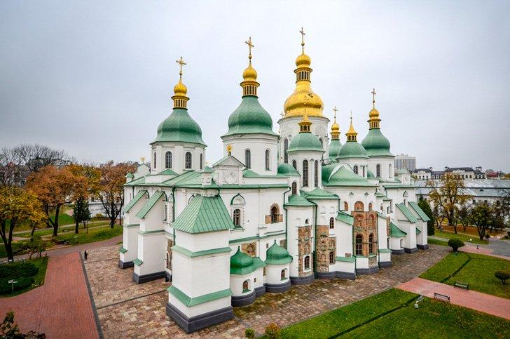 Saint Sophia Cathedral is a UNESCO site and one of the top attractions in Kiev with kids or without!