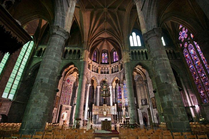 A visit inside the Collegiate Church of Notre-Dame is one of the best things to do in Dinant.