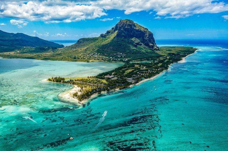 Hike to the summit of Le Morne Brabant Mountain for spectacular views of Mauritius.