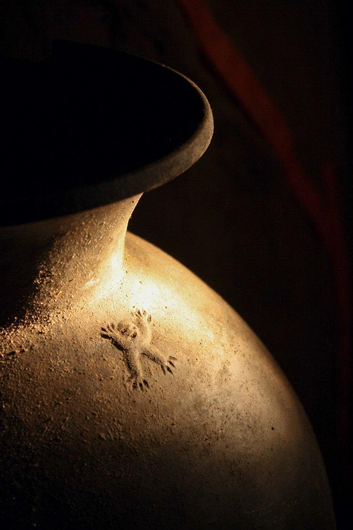 The 'Monkey Pot' found inside the ATM cave in Belize.
