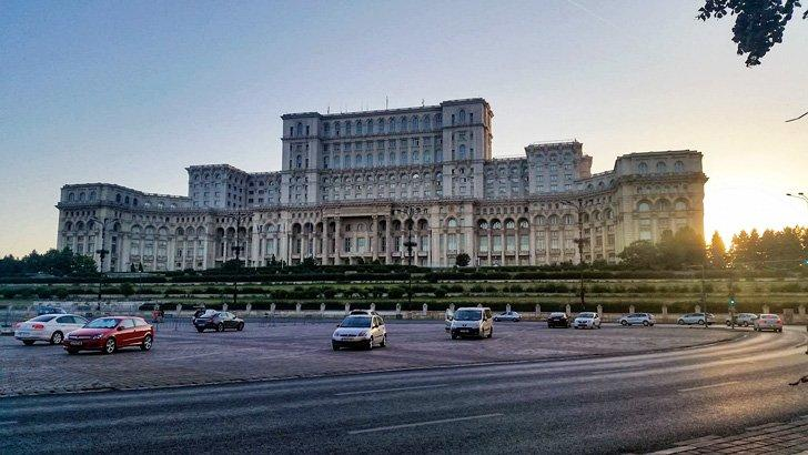 Parliament in bucharest romaia