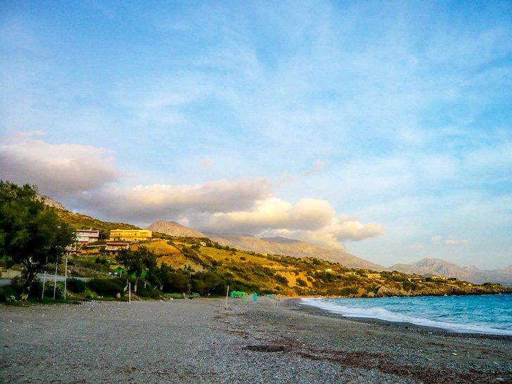 Get the beach at Agia Galini all to yourself during the off-season.