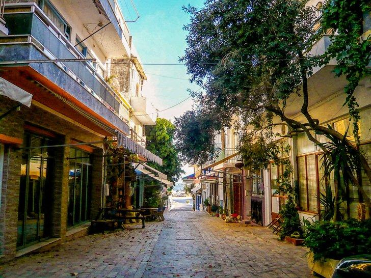 Enjoy the quiet streets if Agia Galini, Crete.