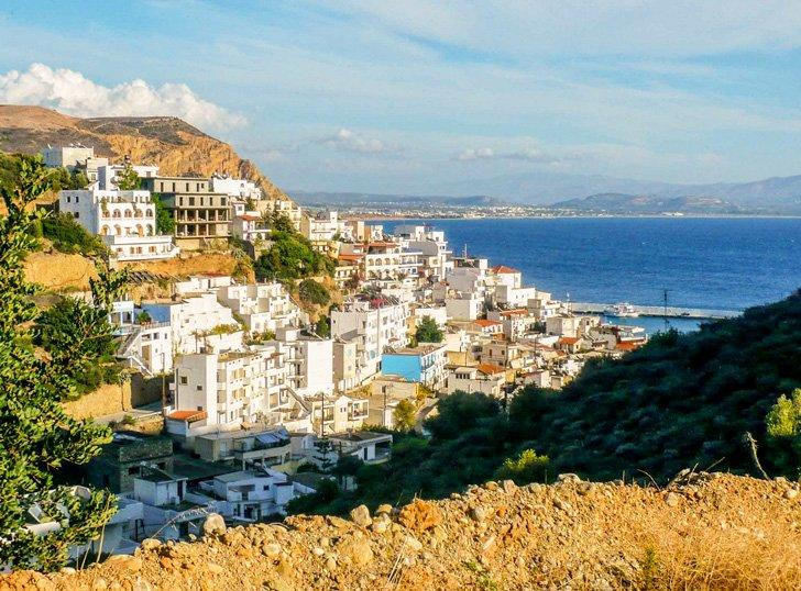 Choose a hotel in Agia Galini on the hilltop for panoramic views