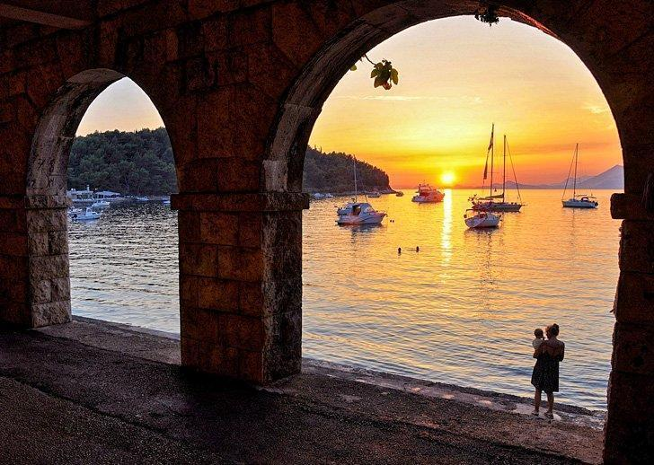 Go for a swim in front of the Rector's Palace in Cavtat, Croatia