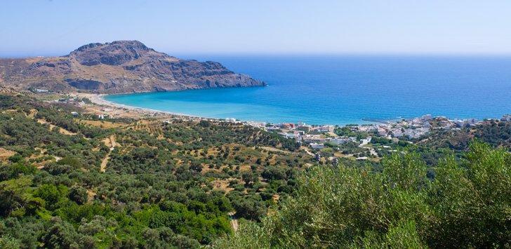 Take a day trip to Plakias beach from Agia Galini, Crete.