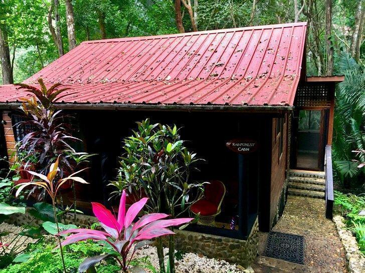 Cabin at the Table Rock Lodge, one of the best hotels for the ATM cave tour in Belize