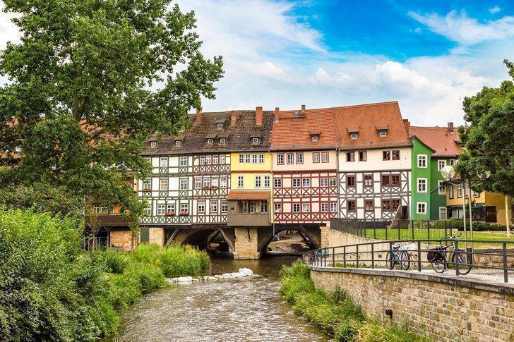 Don't miss the Merchants' Bridge, one of the top sights in Erfurt, Germany.