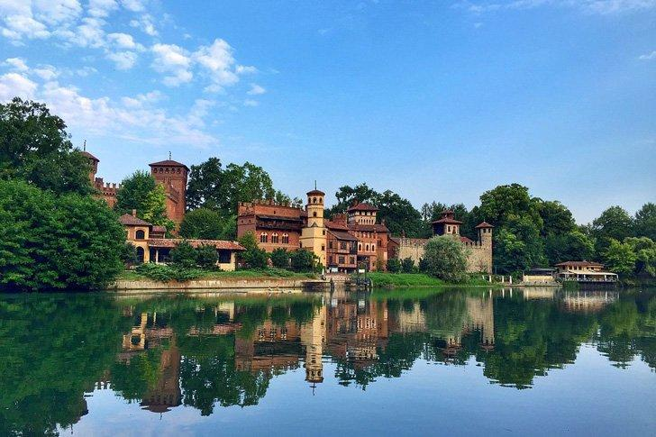 Stroll past the stunning Borgo Medievale in Parco del Valentino, Turin, Italy