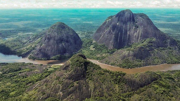 The Cerros de Mavecure are a beautiful natural attraction in Colombia.