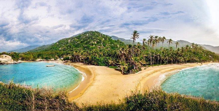 Some of the best beaches in Colombia are found in Tayrona National Park.
