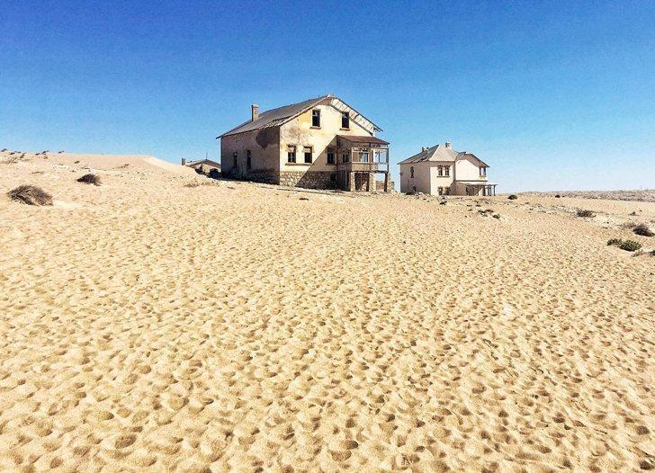 Visit the abandoned town of Kolmanskop on a tour from Luderitz, Namibia