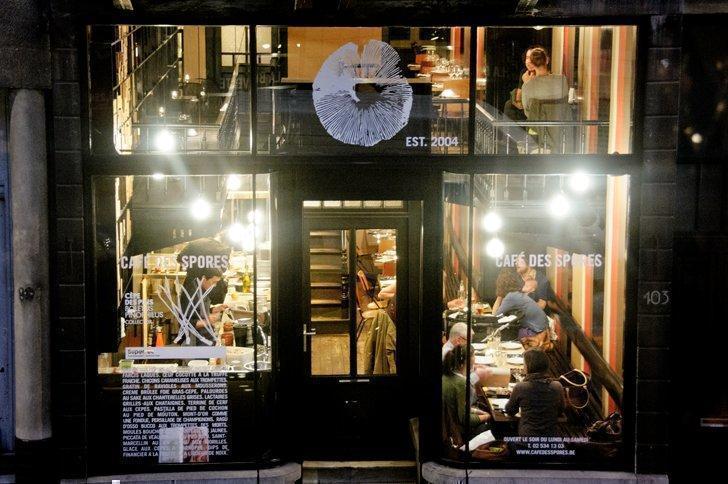 The Cafe des Spores mushroom restaurant in Brussels