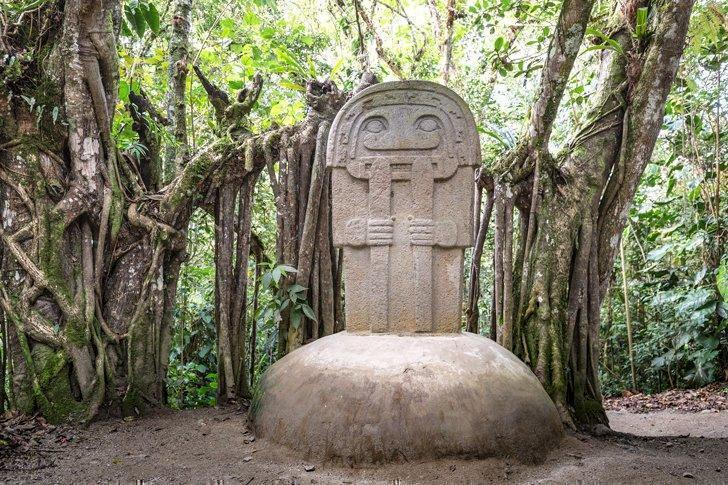 One of the idols of San Agustn Archaeological Park, Huila, a UNESCO site in Colombia