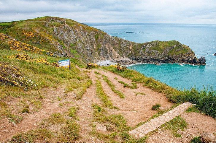 The rugged coastal trail at Nez de Jobourg in Normandy's Little Ireland.