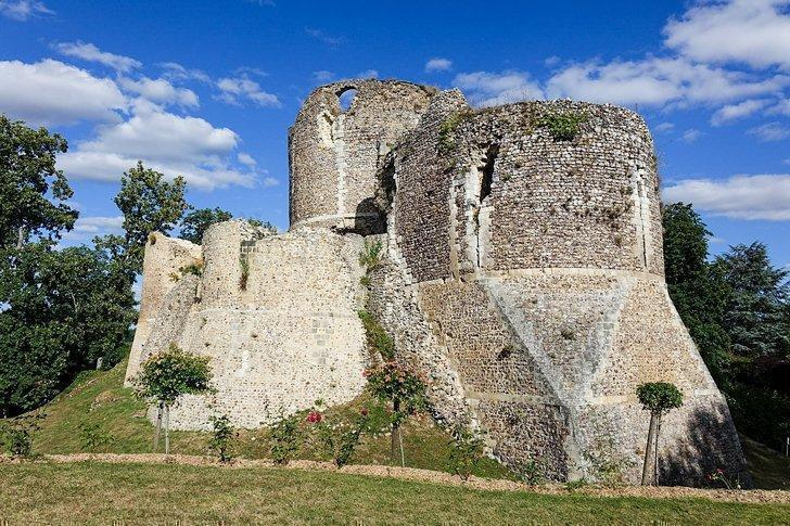 Conches-en-Ouche castle in normandy