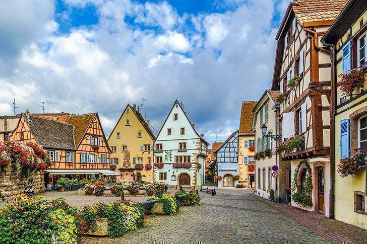 Don't miss colourful Eguisheim on the Alsace Wine Route.