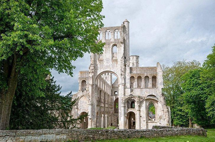 Jumieges Abbey - France's prettiest ruin in Normandy, France.