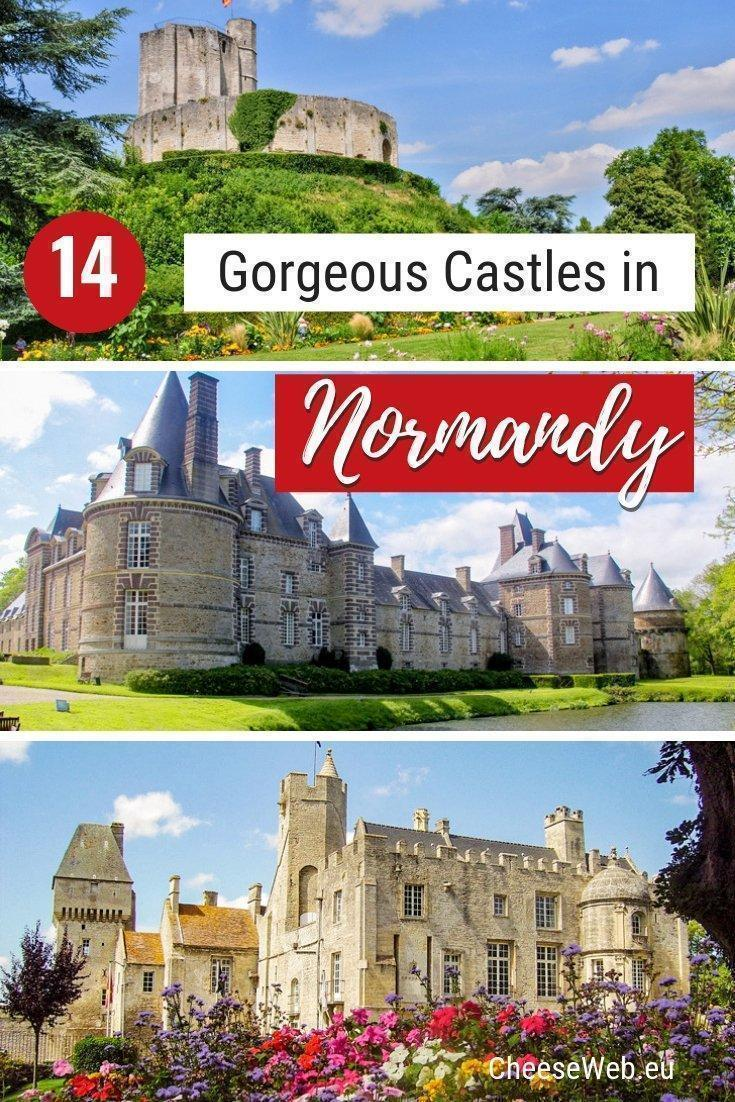 There are countless castles in France dotted across the countryside. Catherine shares 14 of the most beautiful castles in Normandy, France, including two castle hotels where you can stay in luxurious style.