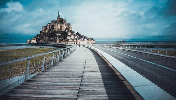 UNESCO sites in Normandy - the iconic Mont-Saint-Michel